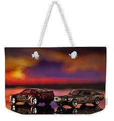 Dueling Mustangs Weekender Tote Bag