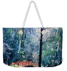 Duke Gardens Watercolor Batik Weekender Tote Bag