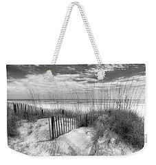 Dune Fences Weekender Tote Bag by Debra and Dave Vanderlaan
