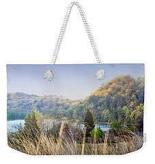 Dune Lake Panorama Saugatuck Mi Weekender Tote Bag