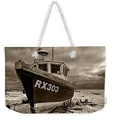 Dungeness Boat Under Stormy Skies Weekender Tote Bag