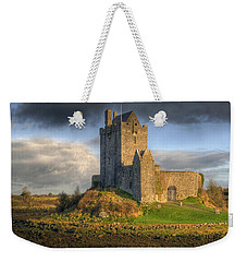 Dunguaire Castle With Dramatic Sky Kinvara Galway Ireland Weekender Tote Bag