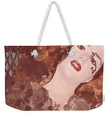 Weekender Tote Bag featuring the digital art Dunvegan Dust Pillow by Kim Prowse
