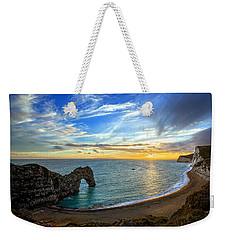 Durdle Door Sunset Weekender Tote Bag by Ian Good