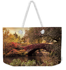Weekender Tote Bag featuring the photograph Dusk At Gapstow by Jessica Jenney