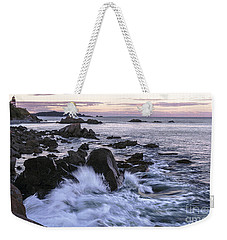 Dusk At West Quoddy Head Light Weekender Tote Bag