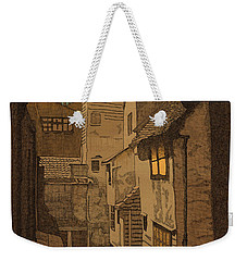 Weekender Tote Bag featuring the drawing Dusk by Meg Shearer