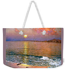 Weekender Tote Bag featuring the painting Dusk Over Coast Of Malaga by Pg Reproductions