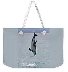 Dusky Dolphin, Kaikoura, New Zealand Weekender Tote Bag by Venetia Featherstone-Witty