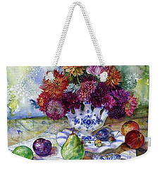 Dutch Dahlia Delights Weekender Tote Bag