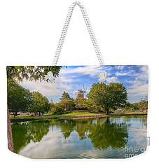 Weekender Tote Bag featuring the photograph Dutch Mill  by Liane Wright