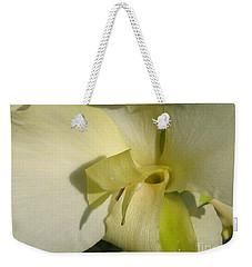 Dwarf Canna Lily Named Ermine Weekender Tote Bag by J McCombie