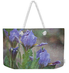 Dwarf Iris With Texture Weekender Tote Bag by Patti Deters