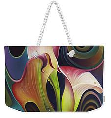 Dynamic Floral 4 Cala Lillies Weekender Tote Bag