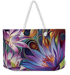 Dynamic Floral Fantasy Weekender Tote Bag