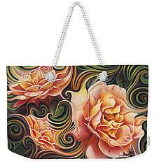 Dynamic Floral V  Roses Weekender Tote Bag