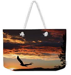 Eagle At Sunset Weekender Tote Bag