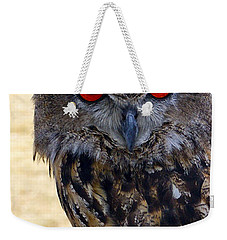 Eagle Owl Weekender Tote Bag by Anthony Sacco