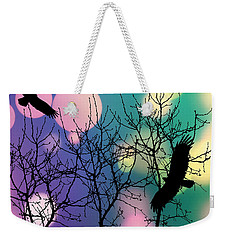 Eagle Rebirth Light Weekender Tote Bag by Kim Prowse