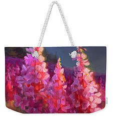 Eagle River Summer Chickadee And Fireweed Alaskan Landscape Weekender Tote Bag