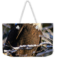 Eagle Sunset Weekender Tote Bag by Stanza Widen