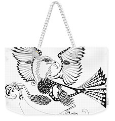 Eagle With A Banner Weekender Tote Bag by Melinda Dare Benfield