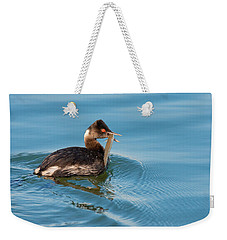Eared Grebe And Fish Weekender Tote Bag