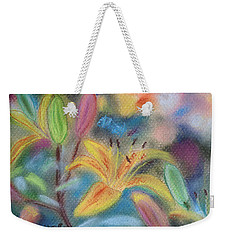 Early Arrival Lily Weekender Tote Bag