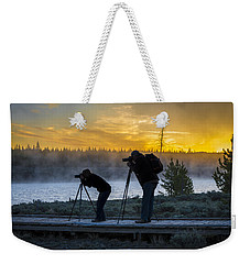 Early Birds Yellowstone National Park Weekender Tote Bag by James Hammond