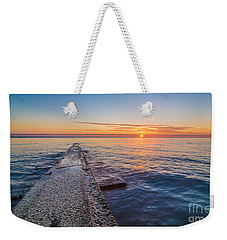 Early Breakwater Sunrise Weekender Tote Bag