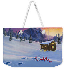 Early Christmas Morn Weekender Tote Bag