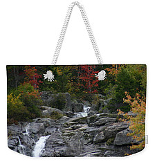 Early Fall Waterfall Weekender Tote Bag by Denyse Duhaime