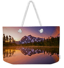 Early Morning At Picture Lake Weekender Tote Bag