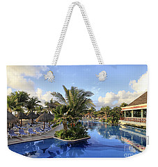 Early Morning At The Pool Weekender Tote Bag by Teresa Zieba