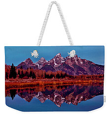 Weekender Tote Bag featuring the photograph Early Morning At The Tetons by Benjamin Yeager