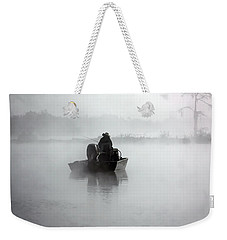 Early Morning Fishing Weekender Tote Bag by Myrna Bradshaw