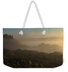 Early Morning Fog At Quoddy Weekender Tote Bag