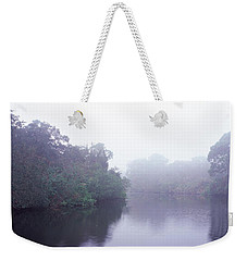 Early Morning Fog On A Creek, South Weekender Tote Bag by Panoramic Images