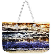 Early Morning Frothy Waves Weekender Tote Bag by Amyn Nasser