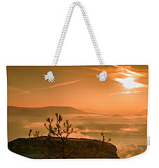 Early Morning On The Lilienstein Weekender Tote Bag
