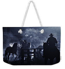 Early Morning Smoke Weekender Tote Bag by Joan Davis