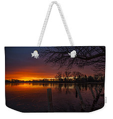 Weekender Tote Bag featuring the photograph Early Morning Sunrise by Nicholas  Grunas