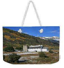 Early Snow At The Farm Weekender Tote Bag