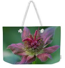 Early Spring Bee Balm Bud Weekender Tote Bag