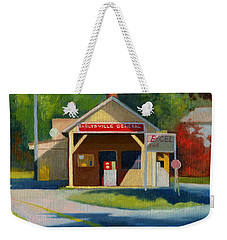 Earlysville Virginia Old Service Station Nostalgia Weekender Tote Bag by Catherine Twomey