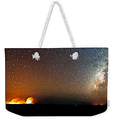 Earth And Cosmos Weekender Tote Bag