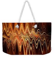Weekender Tote Bag featuring the digital art Earth Frequency by Menega Sabidussi