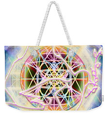 Earth Water Spirit Madonna Peace Matrix Weekender Tote Bag