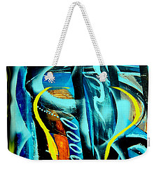 Weekender Tote Bag featuring the painting Imagination -  by Yul Olaivar