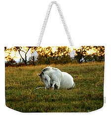 Easier Lying Down Weekender Tote Bag